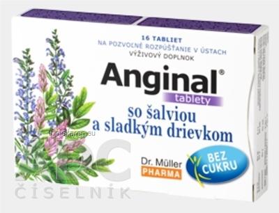 DR. MULLER ANGINAL SO SALVIOU A SLADKYM DRIEVKOM