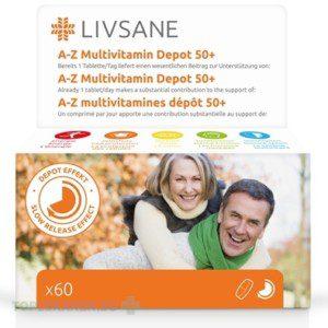 LIVSANE A-Z MULTIVITAMIN KOMPLEX 50+