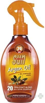 SUN ARGAN OIL OPALOVACIE MLIEKO SPF 20